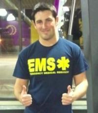 Cody in his EMS shirt