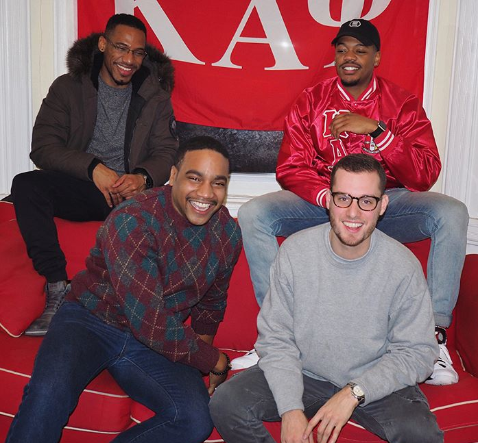Sam with a few of his brothers from the Delta Eta Chapter of Kappa Alpha Psi