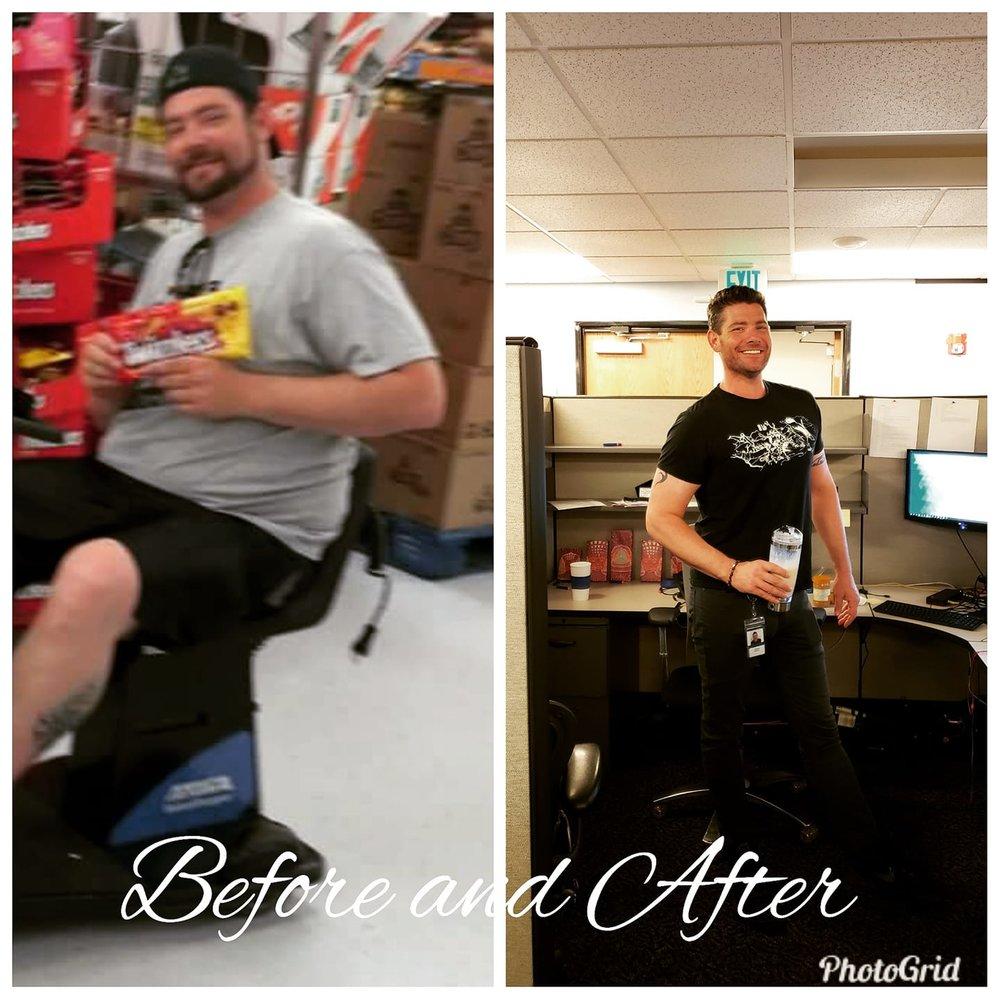 Joe went through an incredible body transformation!!