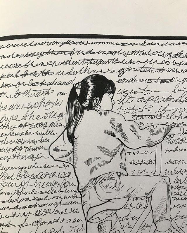 Sketch of the very distance past and ramblings . . . #sketch #sketchbook #drawing #penandink