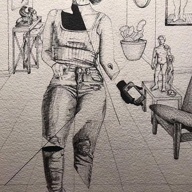 A little cropped work in progress 👖🖊 . . . . #art #artist #drawing #pen #pendrawing #illustration #wip