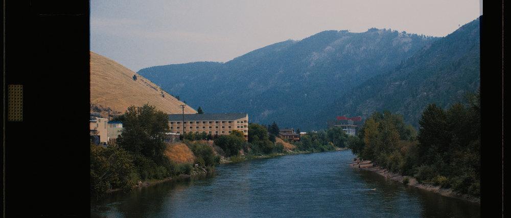 Missoula Montana River and Mountains