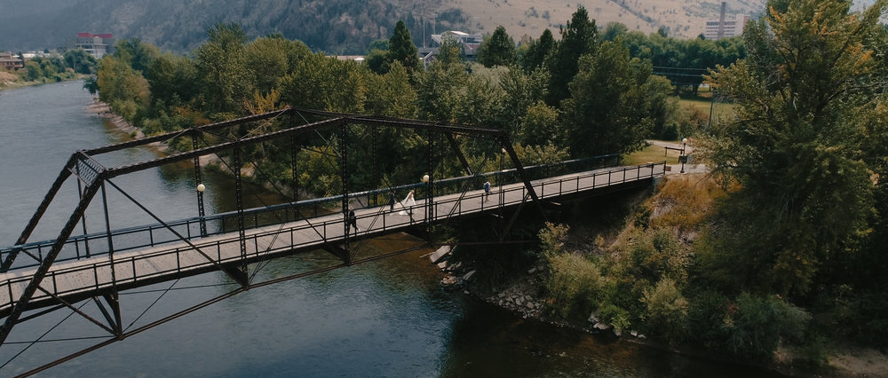 Bridge Near Mountains in Montana