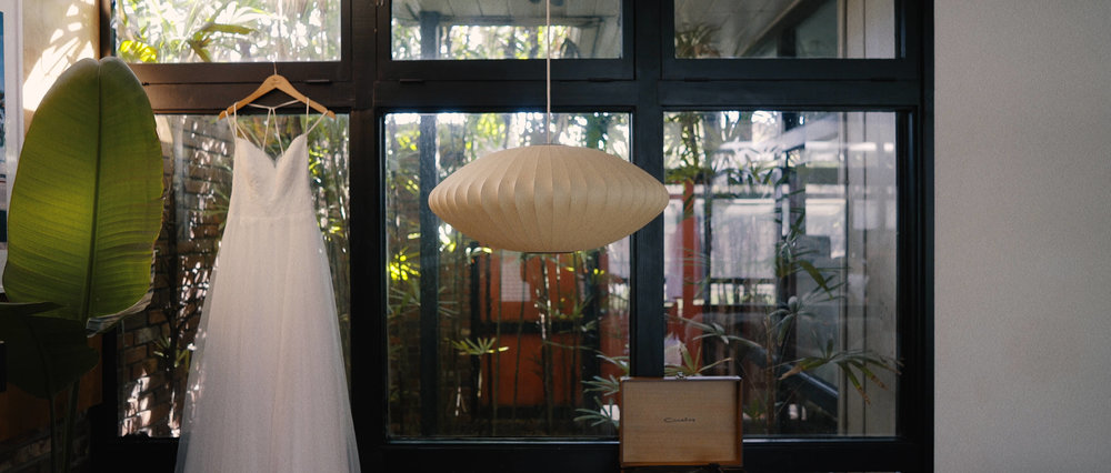 Dress Hanging in Tampa Wedding