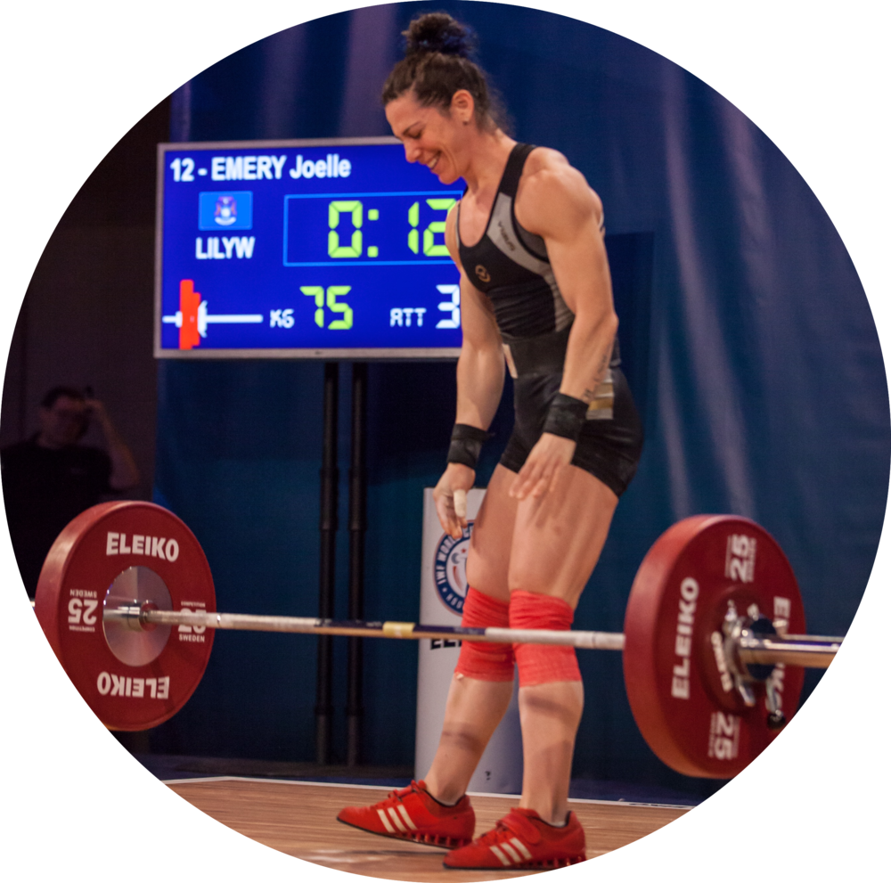 Joelle Emery - Joelle is a USAW Advanced Sports Performance coach and a CrossFit Level 1 coach. She is Michigan Weightlifting's Female Athlete Representative and a member of USAW's Women's Collegiate Development Committee.As the founder of Weights & Plates, Joelle helps athletes meet their nutrition needs. Joelle competes as a senior 63kg and has lifted at AO Finals, Senior Nationals and The Arnold Classic.