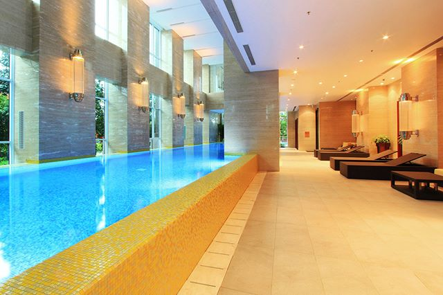 Heated Indoor Swimming Pool at The Pakubuwono Signature.  #apartmentjakarta #luxuryliving #jakarta #skyscraper #luxuryliving #luxuryresidence #pakubuwono #highrise #tallestbuilding #architecturedesign #design #indoorpool #swimming #indonesia #pakubuwonosignature #premiumliving #privateresidence #interordesign #interior #highend #apartmentjakarta #heated #pool #architectural #architecture