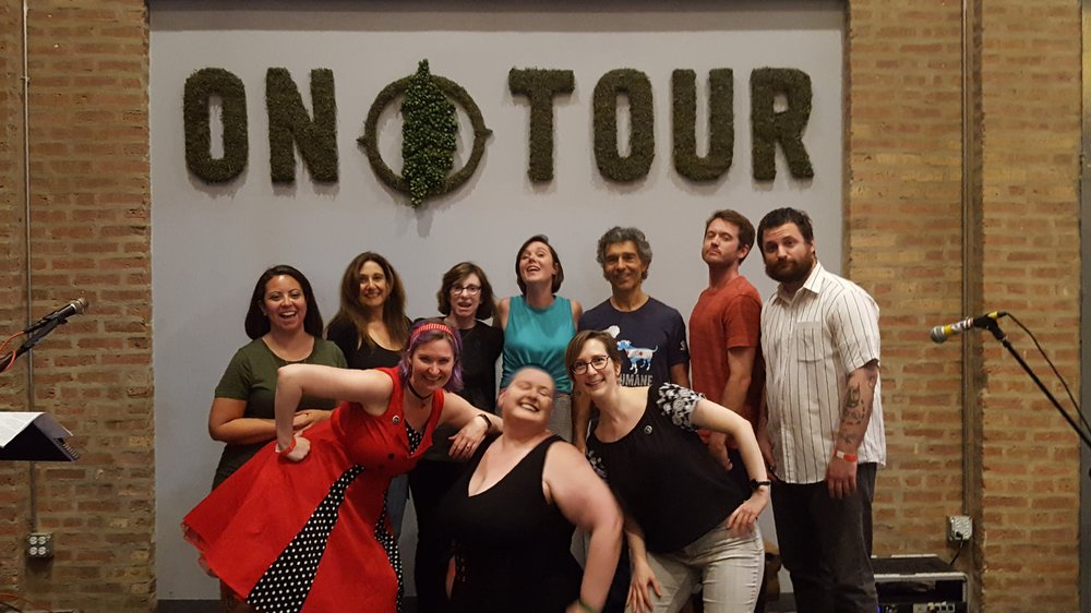 Clockwise from back left: Dee Fuentes, Suzanne Faber, Anne Abel, Mikala Hansen, Paul Teodo, Sean Wilson, Sam Pink, Christina Brandon, Nicolle Neulist, Abby Dryer.