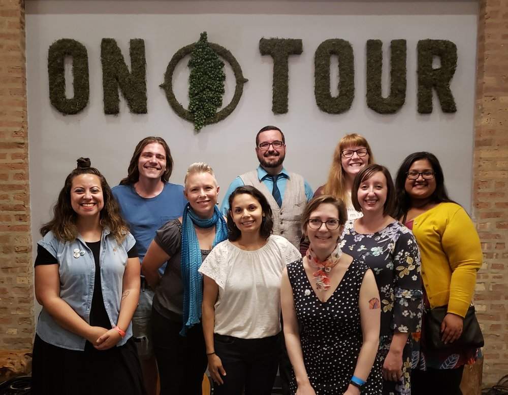 From left: Dee Fuentes, Henry Geraghty, KellyAnn Corcoran, Janki Mody, Travis J. Cook, Christina Brandon, Mindy Watters, Megan Grandstaff, Ulupi Bodiwala. (Not pictured: Nina Banks).