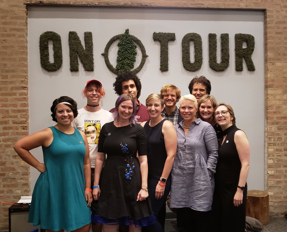 From left: Dee Fuentes, Aubre and Nico of String Figures, Abby Dryer, Lauren Swihart, Chris Walsh, KellyAnn Corcoran, Jade Maze, Anne Johnsos, Christina Brandon.
