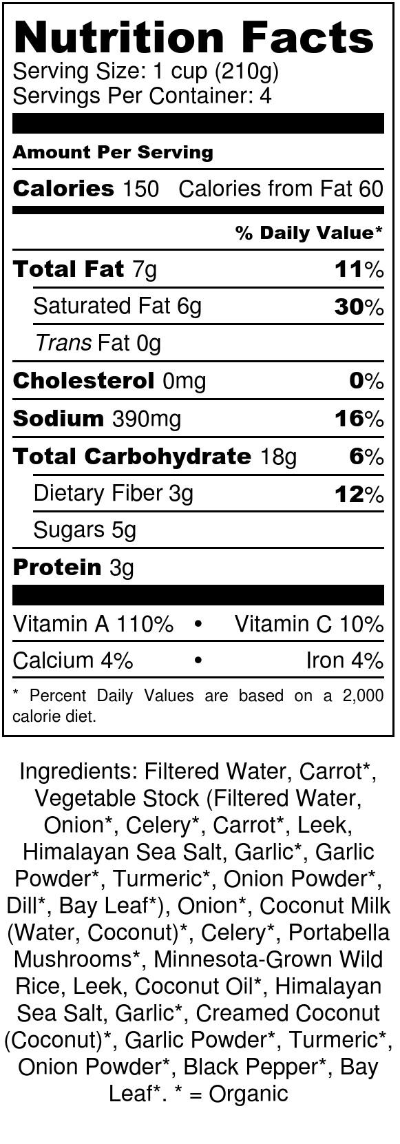 Jen's Jars Wild Rice and Mushroom Soup - Nutrition Label.jpg