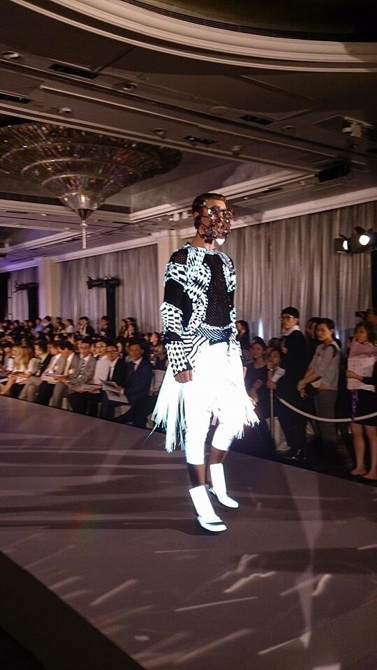 The Hong Kong Polytechnic University - With reflective being an important element for designers, we collaborated with a Mr. Ho Yin Fook (12') design school student in incorporating reflective materials in his garments for his design competition