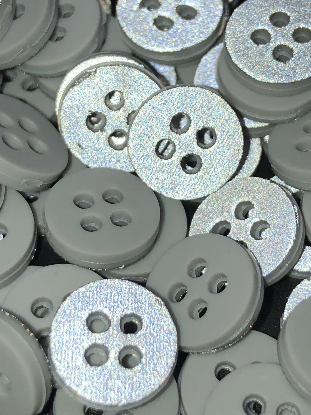 Reflective Buttons  - Industrial wash and home wash options available