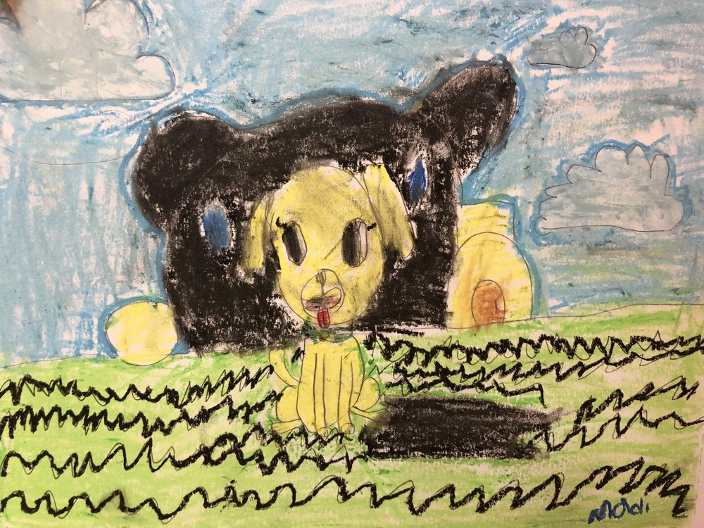 Pluto and The Clubhouse in Pastels  By Madi