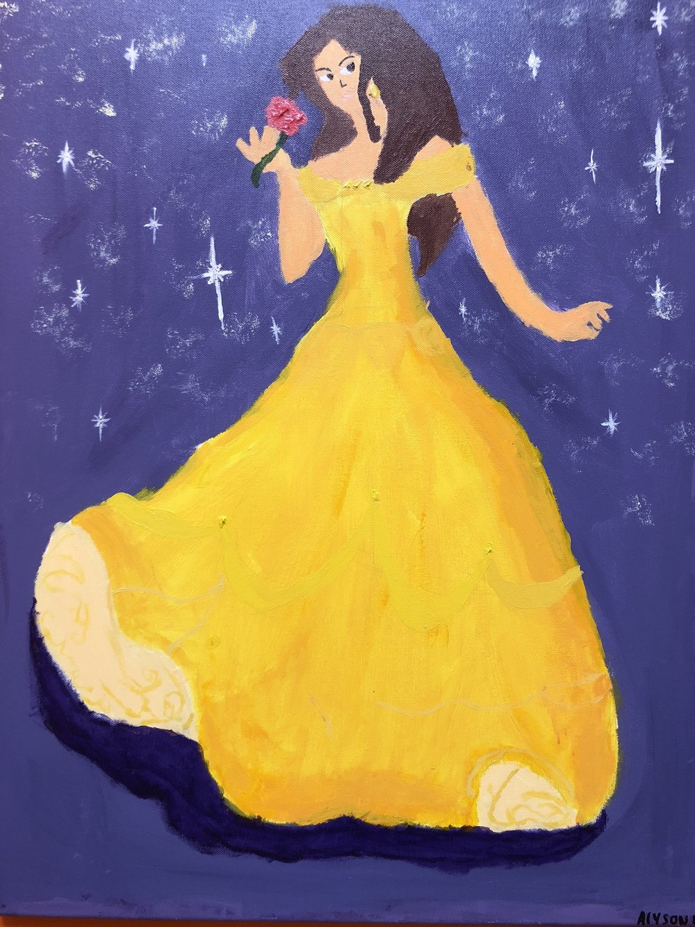 Belle in Acrylics.  By Alyson