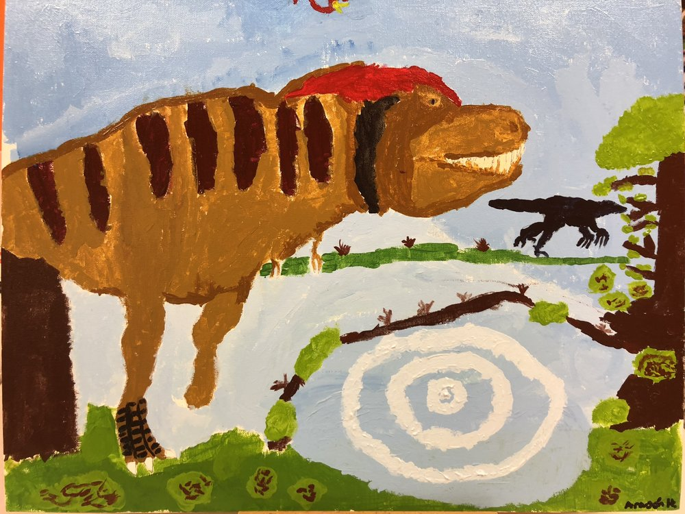 T-Rex in Acrylics  By Aragon