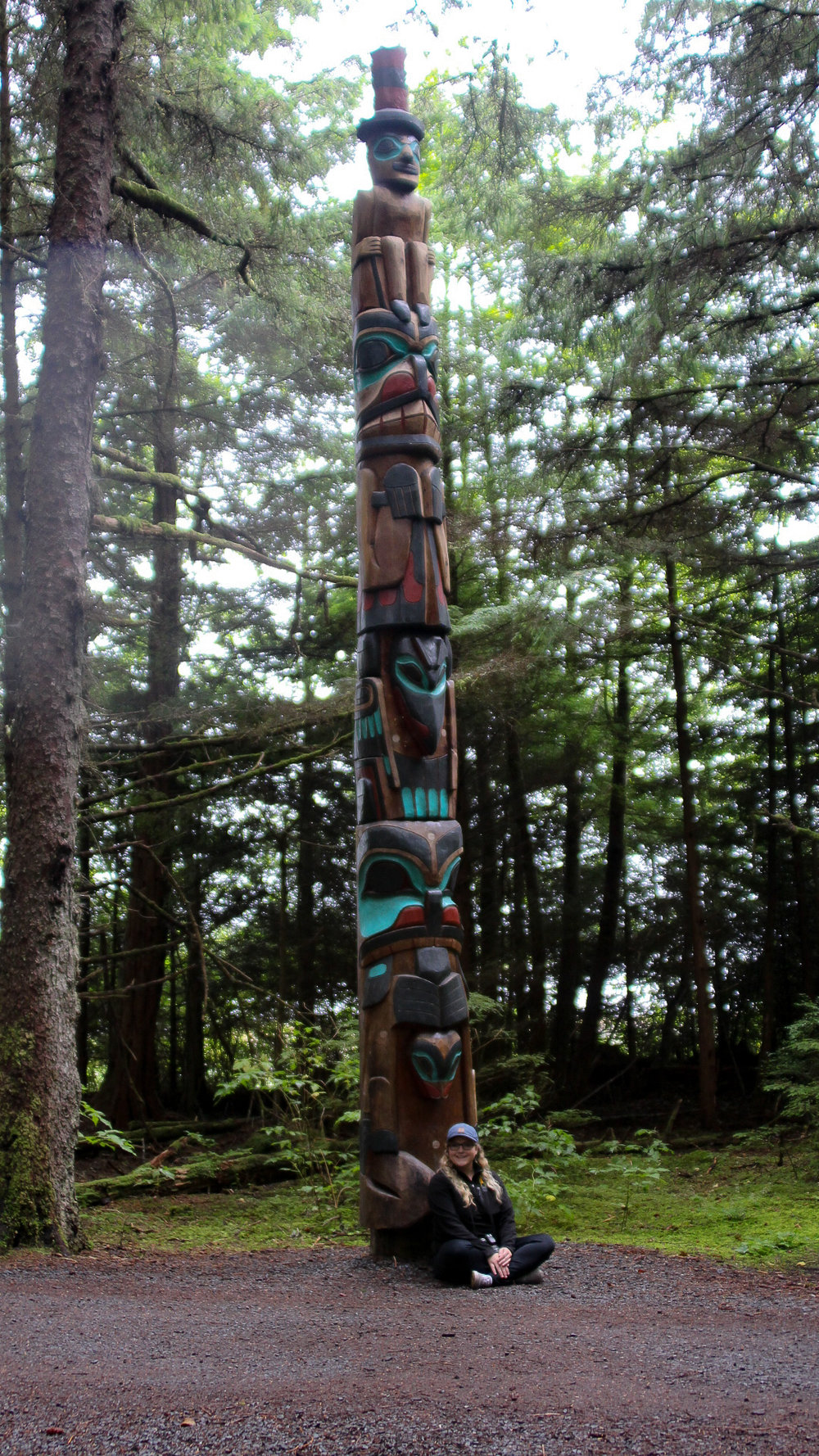 This National Park also had a TON of totem poles! Super cool to see these up and in person!