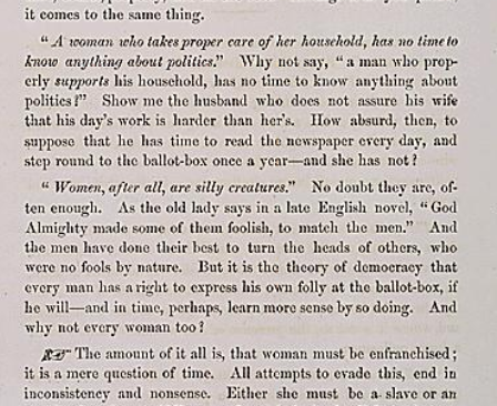 """""""The Nonsense of It,"""" a pamphlet arguing for women's suffrage, 1866"""
