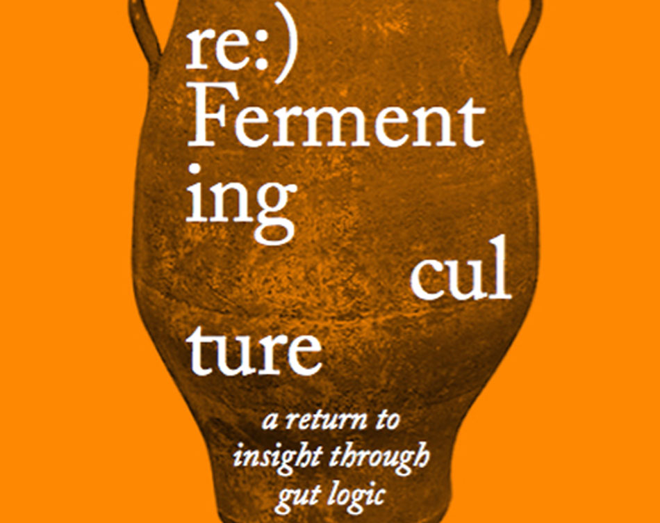 10.30 am - 11.20 am  Festival Hall (Free Entry)  PATRICK JONES  Patrick Jones is a writer, poet, permaculturist and one-fifth of the performance collective  Artist as Family . Patrick will be presenting his new book on the theory of fermenting  re:)Fermenting culture: a return to insight through gut logic  followed by a fermentation workshop hosted by Meg Ulman. (See workshop listings.)