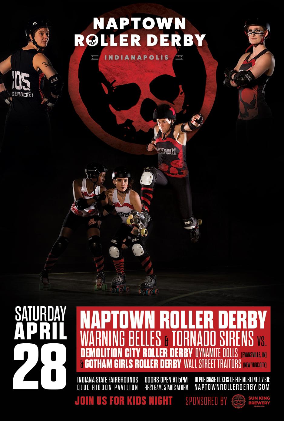 April 28, 2018 - Naptown vs. Gotham Girls Wall Street Traitors and Demolition City Dynamite Dolls