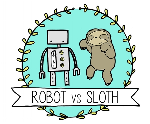 Robot vs Sloth