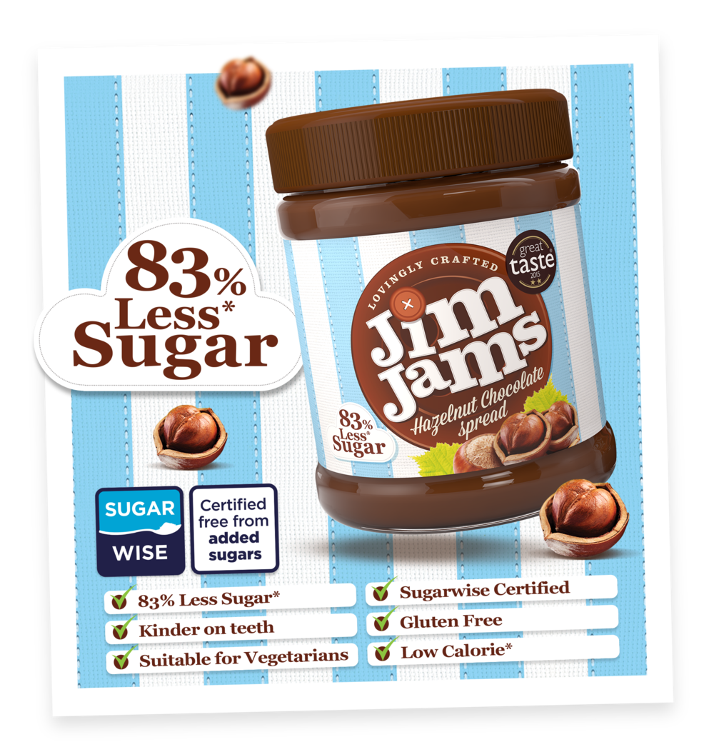 JimJams Low Sugar Hazelnut Chocolate Spread