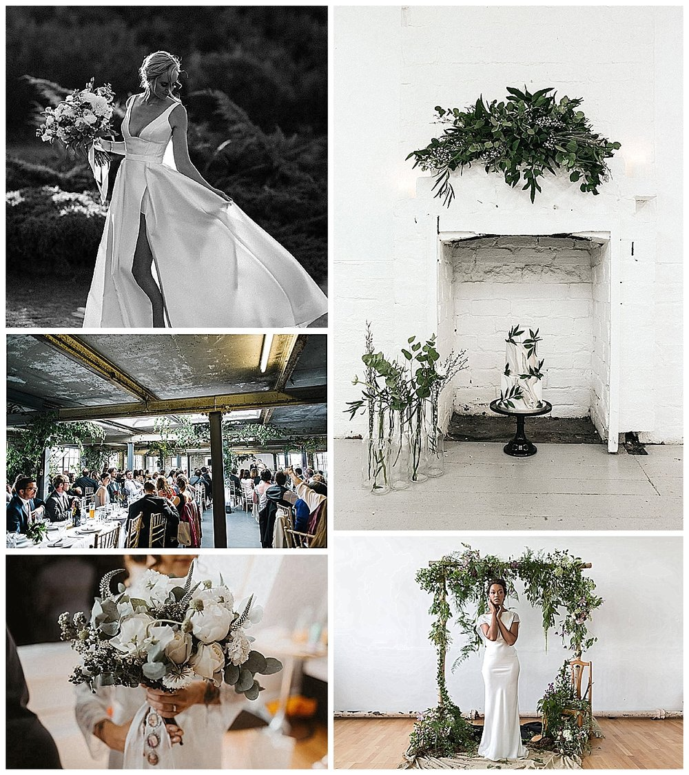 Images via suppliers Olive Jones Bridal, Happyhills Cakes, Flossy & Dossy, Biscuit Factory & Save the Date Collective
