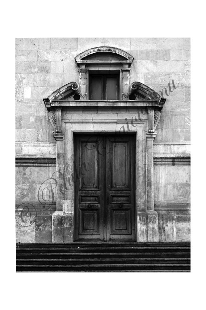 gate on a stone facade_paula craioveanu_bw photo_21x17in.jpg