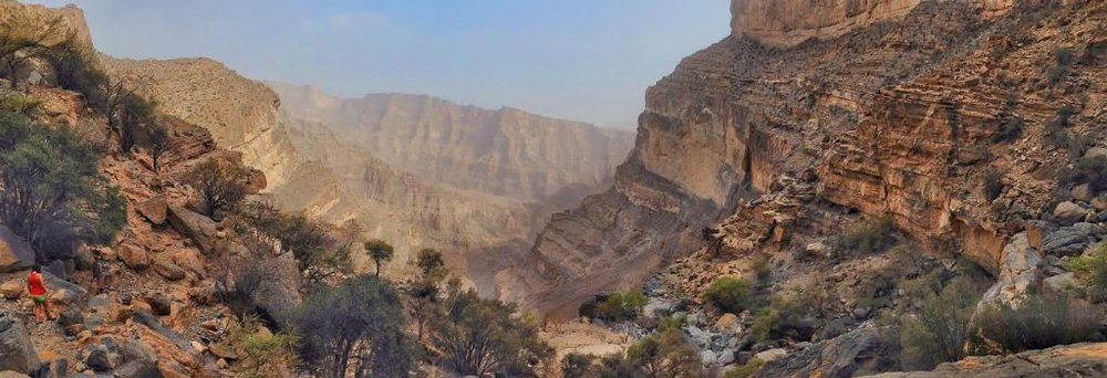 Camping in Oman at Jebel Shams