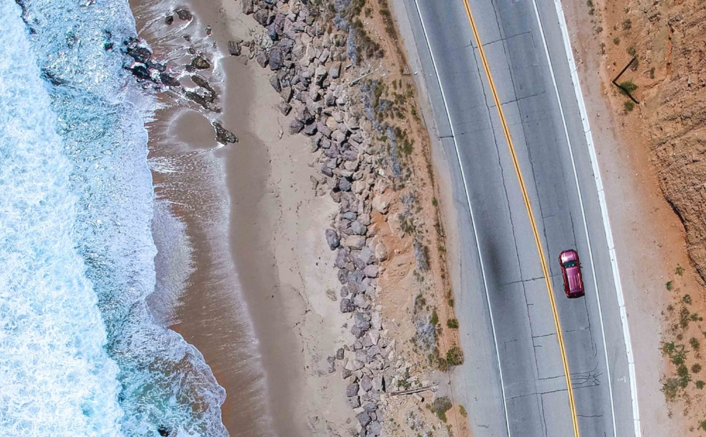Rolling down the epic Pacific Coast Highway through Malibu - June 2018