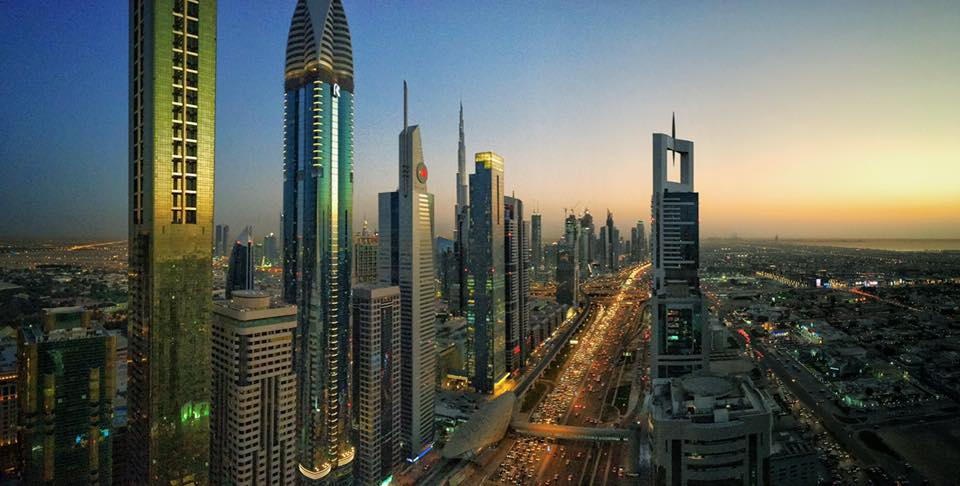 Dubai sunset view of Sheikh Zayed Road.jpg