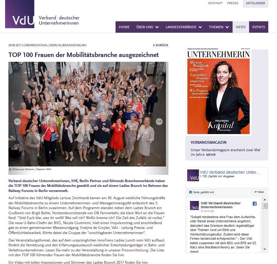 Verband deutscher Unternehmerinnen - 2. September 2017