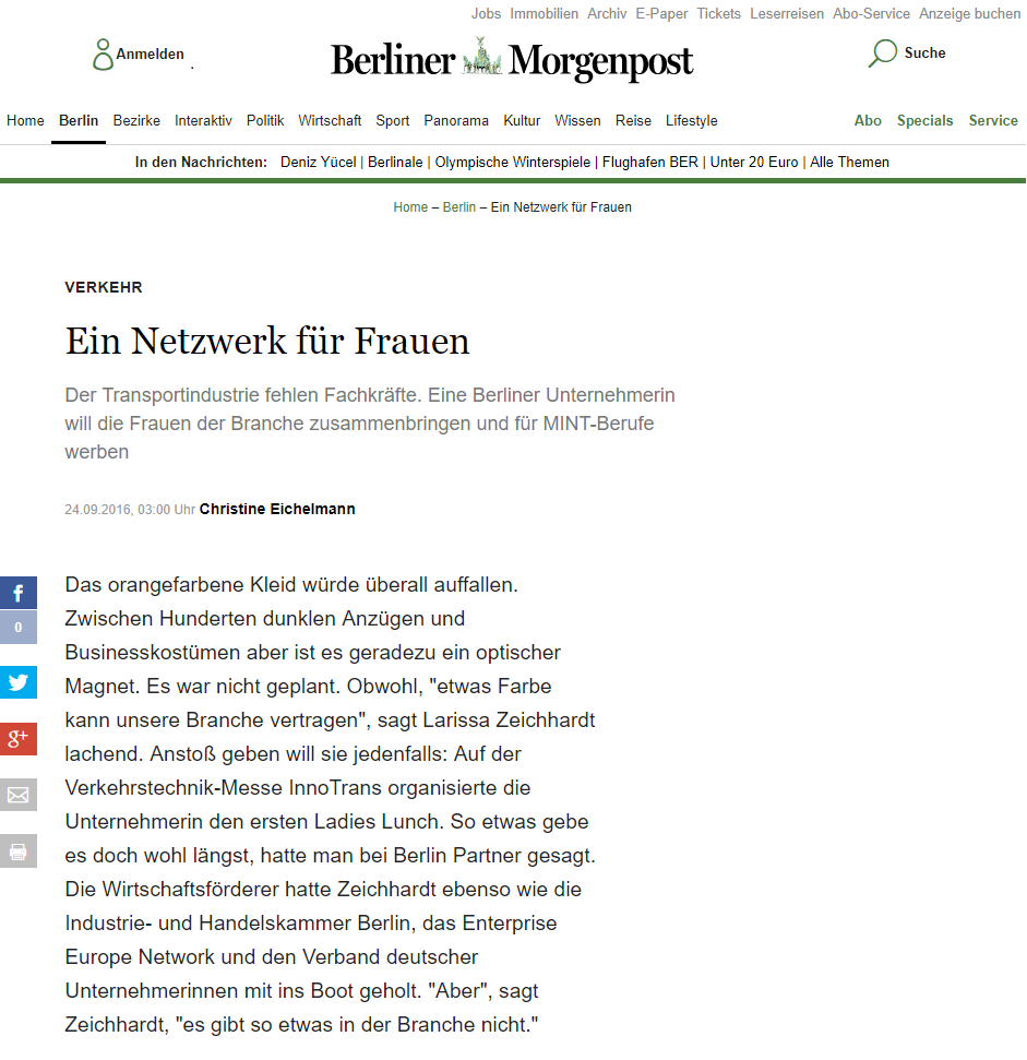 Berliner Morgenpost - 24. September 2016