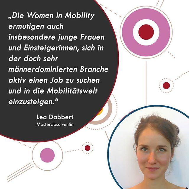 Fünf Young Professionals und Nachwuchsführungskräfte haben die Chance erhalten, beim WiM Luncheon auf der InnoTrans starke Frauen aus der Mobilitätsbranche kennenzulernen und zu Netzwerken, was das Zeug hält! Hier erzählen sie uns, was die Mobilitätsbranche für sie so besonders macht und warum eine Plattform wie Women in Mobility so wichtig für den weiblichen Nachwuchs in der Mobilitätsbranche ist.  Lea Dabbert ist Masterabsolventin in Politischer Kommunikation an der FU Berlin und tritt im Oktober ihren ersten Job in der Mobilitätsbranche an. Die Women in Mobility versteht sie auch als Karrierenetzwerk. In der WiM Facebook Gruppe werden regelmäßig Jobs von Mitgliedern gepostet, der Erstkontakt kommt so viel unverkrampfter zustande. Die gelöste Atmosphäre auf Veranstaltungen wie dem WiM InnoTrans Luncheon lädt auch zum Netzwerken ein. Für Lea wird es nicht die letzte Women in Mobility Veranstaltung gewesen sein, aber jetzt wünschen wir ihr erst einmal einen tollen Start ins Berufsleben!  #womeninmobility #womenintransport #networking #WiM #career #youngprofessionals #innotrans #WiMluncheon