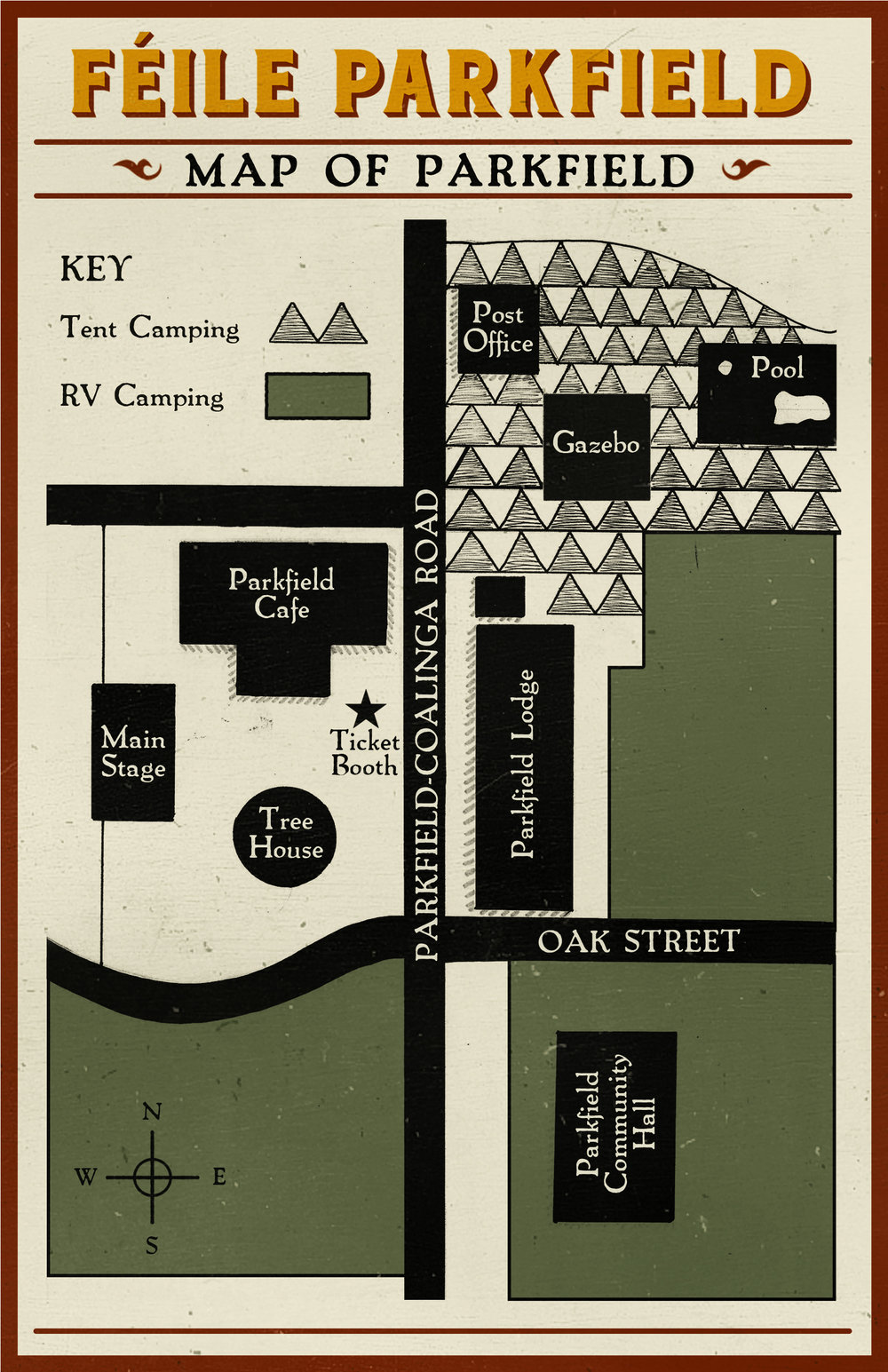 Map of Parkfield