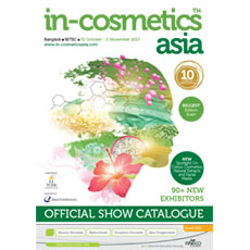 in-cosmetics Asia Catalogue   in-cosmetics@showtimemedia.com