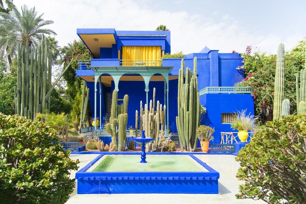 majorelle blue - Majorelle Garden
