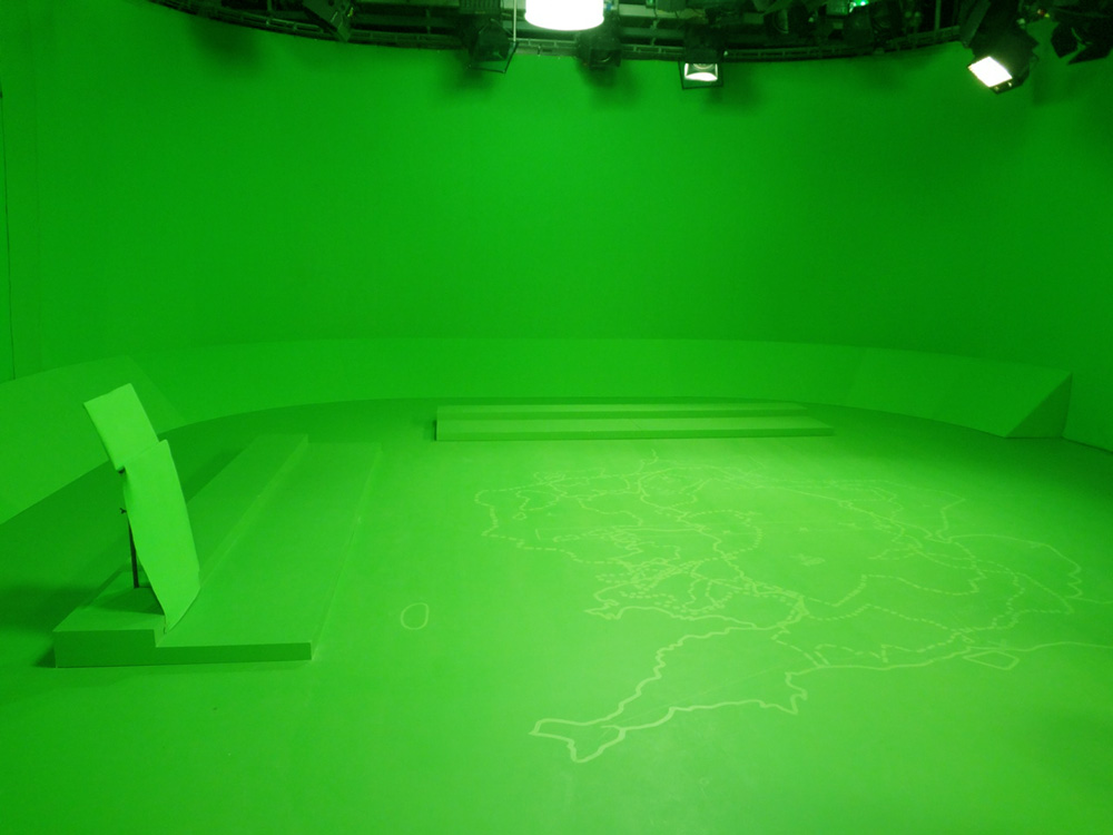Bristol VFX100 green screen studio bbc elections 2012
