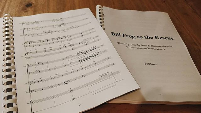 After a solid week of work, Bill Frog to the Rescue is finally orchestrated - thanks from the bottom of my heart to everybody who has kept me sane during this 🧡 very very excited to get to work in rehearsals with the wonderful @ellie.simps0n and our smashing band 🎭