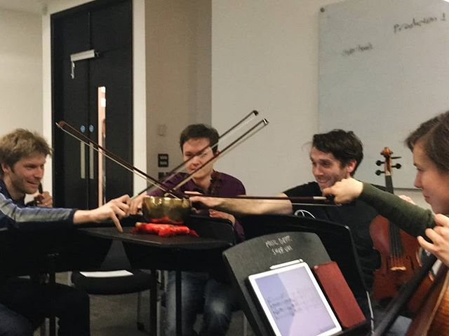 Dreams came true last Friday having Richard, Paddy, Chris and Anna perform my string quartet at the BFE/RMA conference 😍 such an incredible experience to hear it played.  #Ligeti&GildasCrossSwords