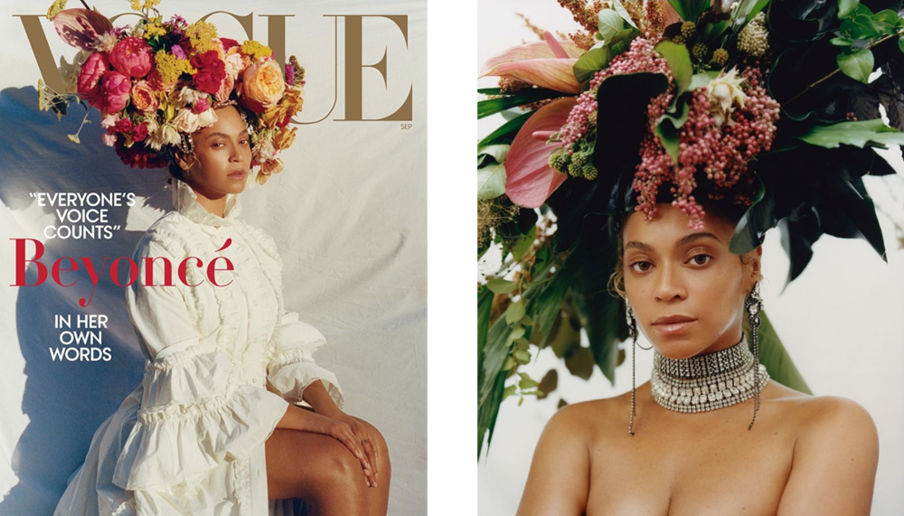 Beyonce wears Hair Crown by Rebel Rebel for Vogue September Issue