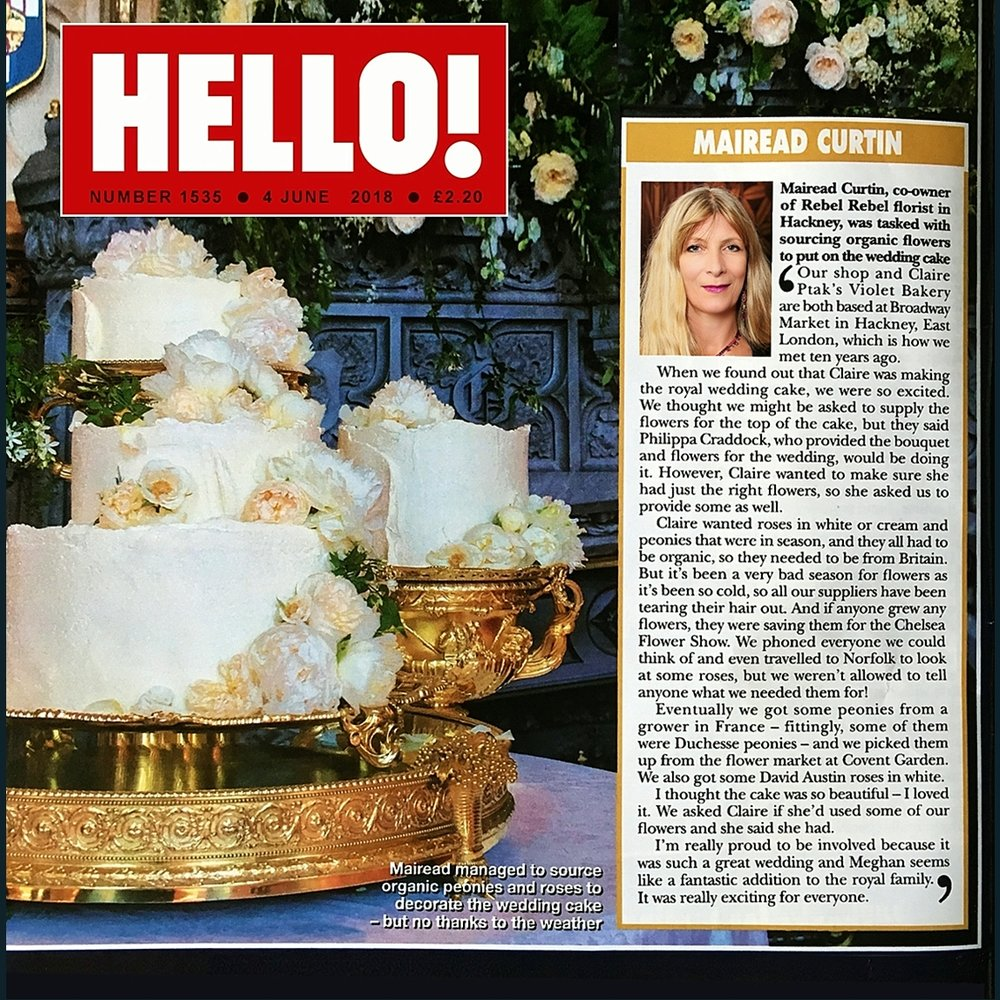 Hello Magazine June 6 2018 Harry & Meghan Royal Wedding Cake.jpg