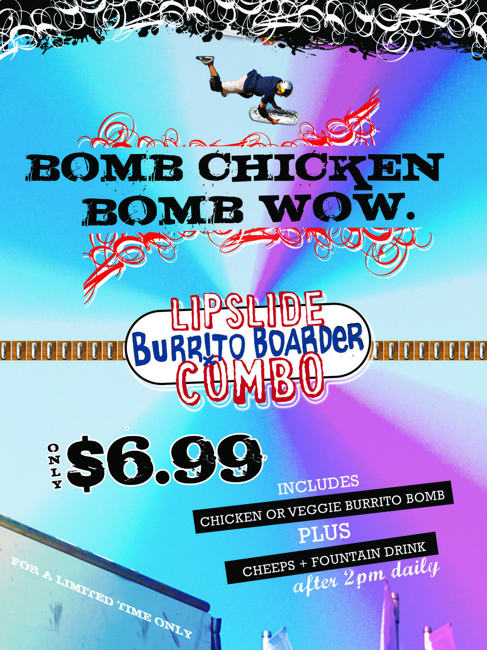 Burrito Boarder | print, digital, POS, apparel