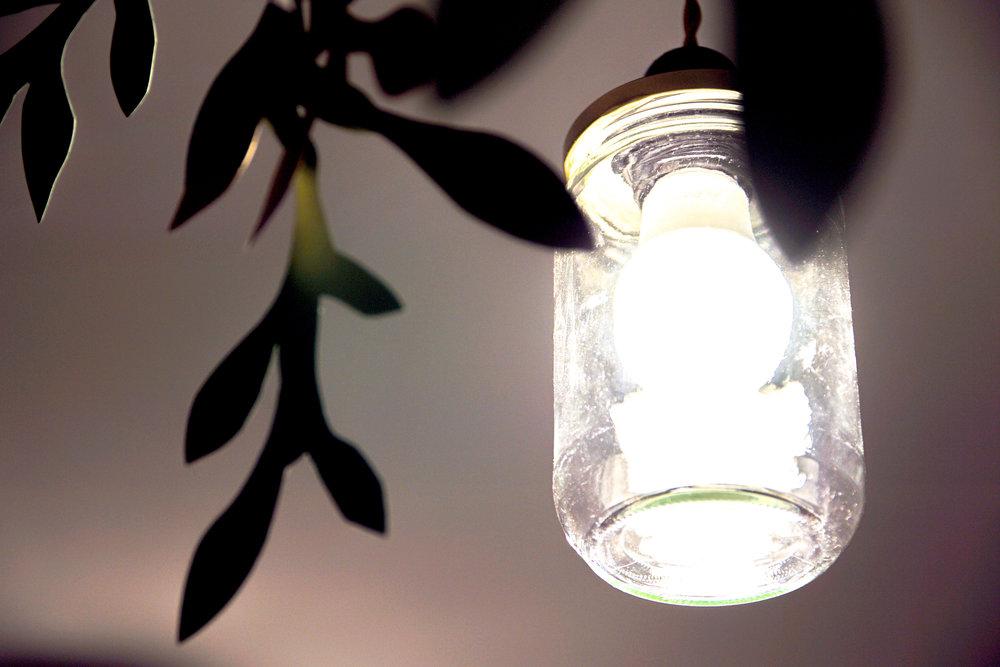 Lumière dans un bocal - light in a jar