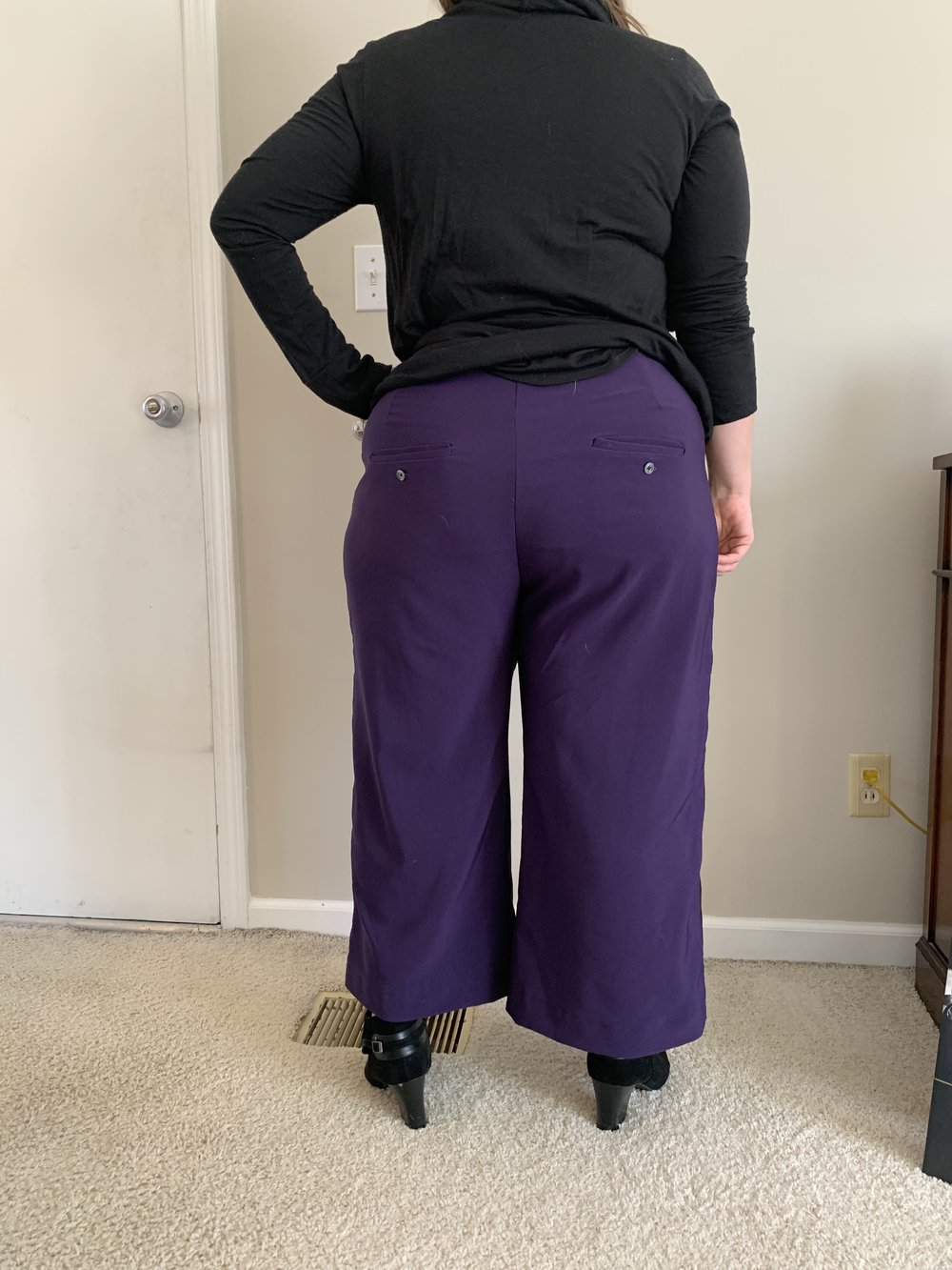 I learned so much about welt pockets making these pants!