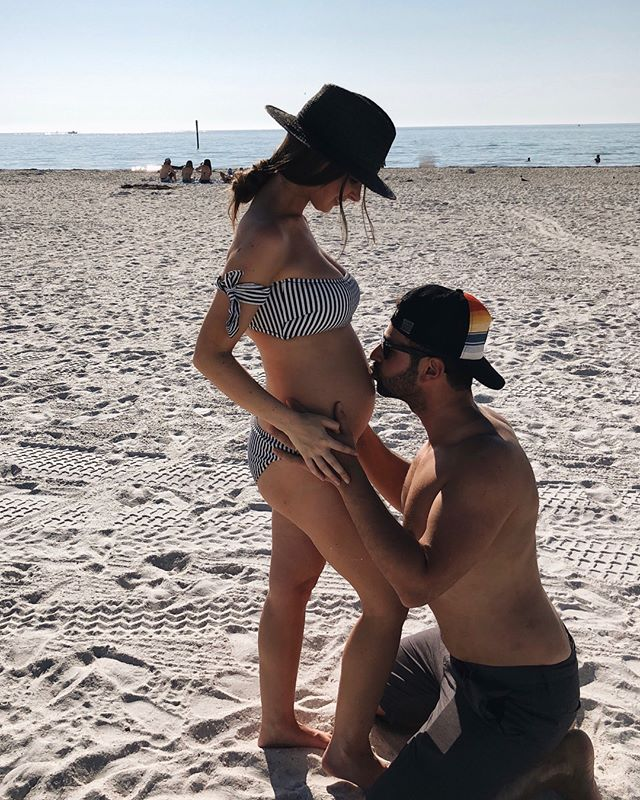 We are thrilled to be adding a BABY BOY to our tribe. 💙🏄🏽‍♂️ He's due on August 7th and we can't wait to meet this little babe.