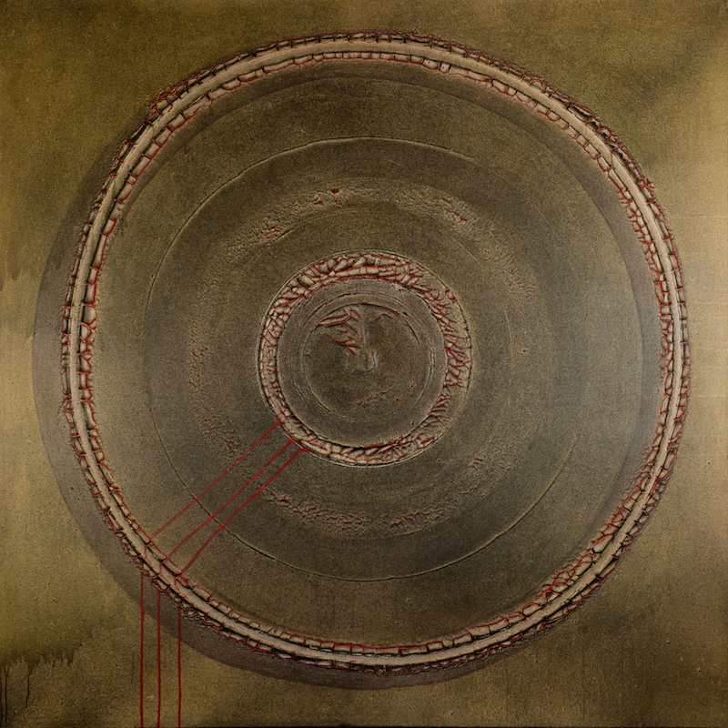 The Earth, 2014, technique mixte sur toile, 150 x 150 cm..jpg
