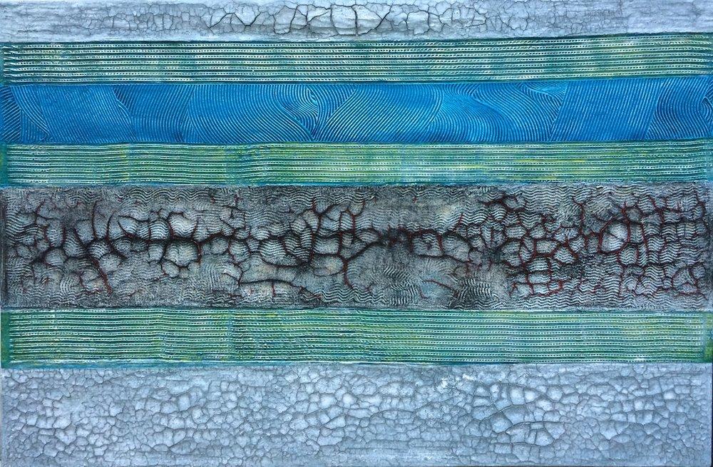 Zamin o Zaman, 2016, technique mixte sur toile, 150 x 100 cm..JPG