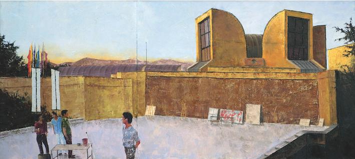 Moozeh Tehran, 60x90cm, huile sur toil 2008.png