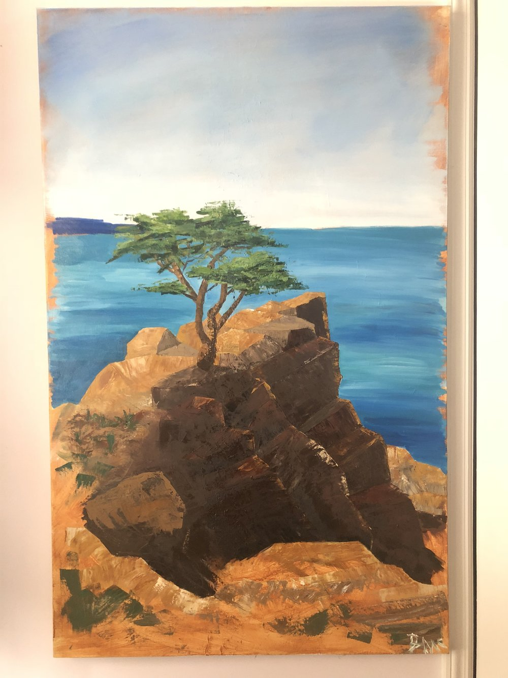 Lone Cyprus, Oil on Canvas, 30x48inches, October 2018