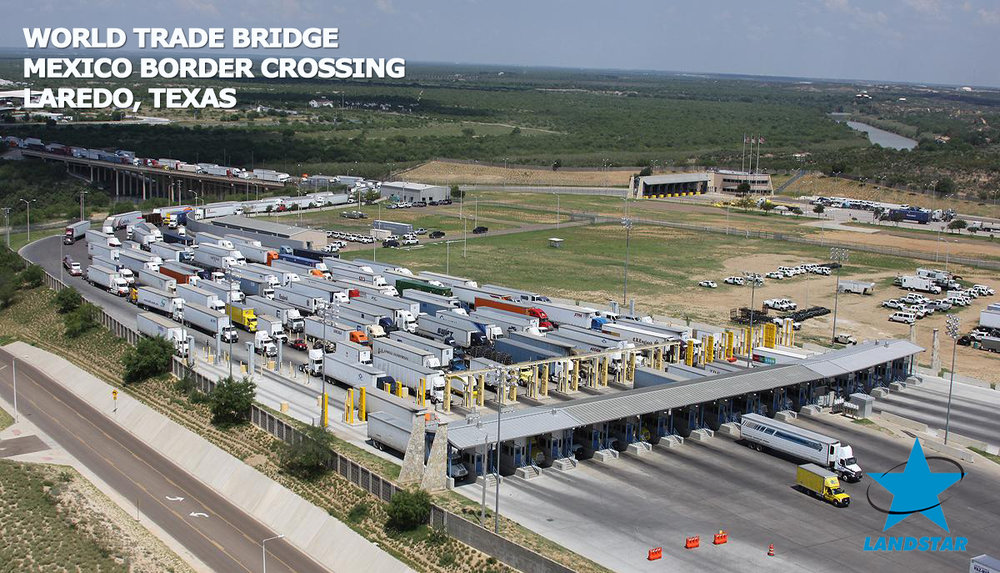 The World Trade Bridge, on average, handles about 11,000 to 12,000 trucks per day.  Photo credit: U.S. Customs and Border Protection